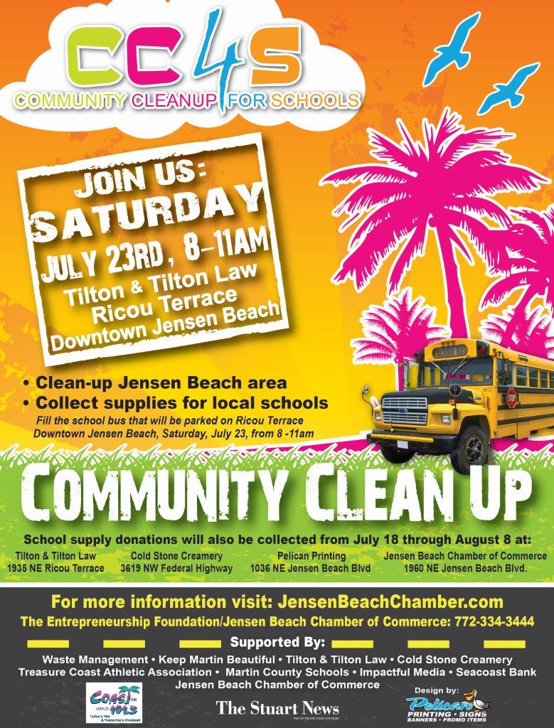 Fill The Bus With School Supplies & Help Clean Up Jensen Beach
